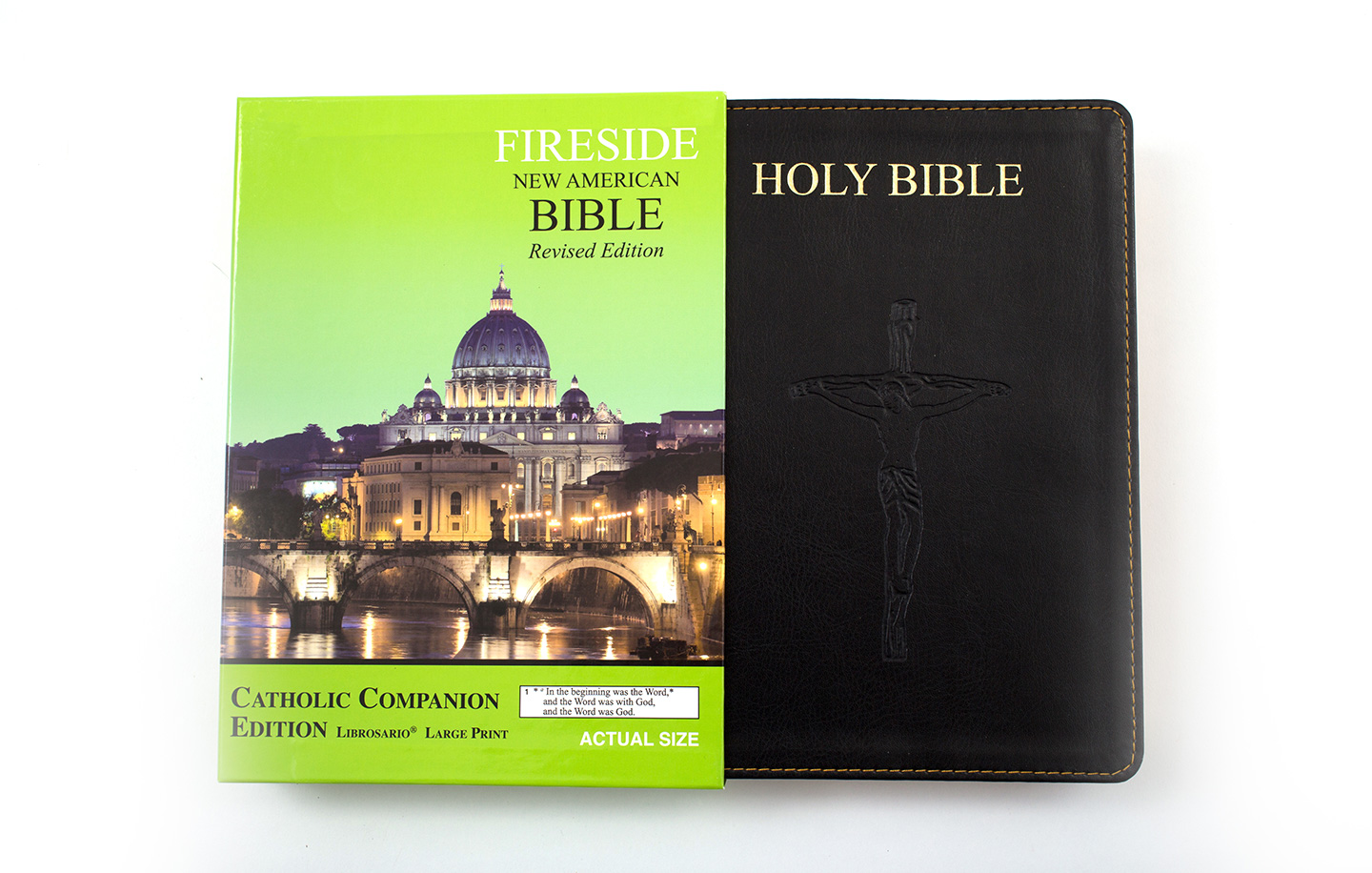 ISBN # 9781556654008 Fireside Catholic Companion Edition Large Print - Librosario   (Front and Spine Image close up)